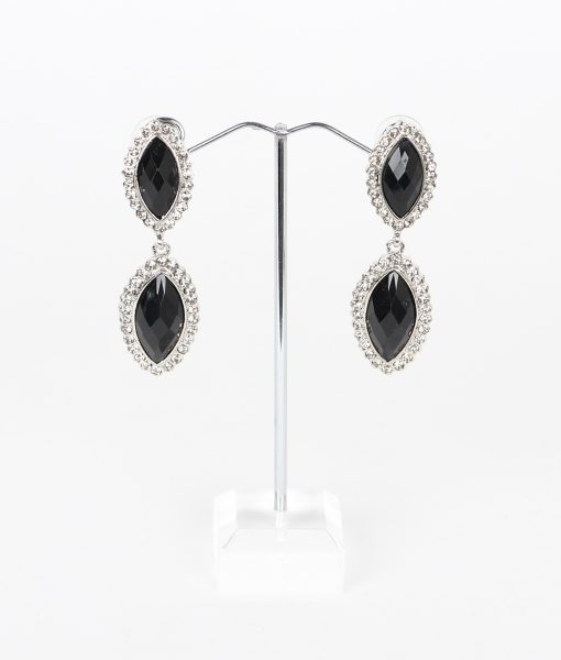 Alila Black & Crystal Drop Earrings