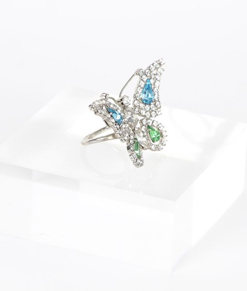 Alila Boutique Crystal Butterfly Ring