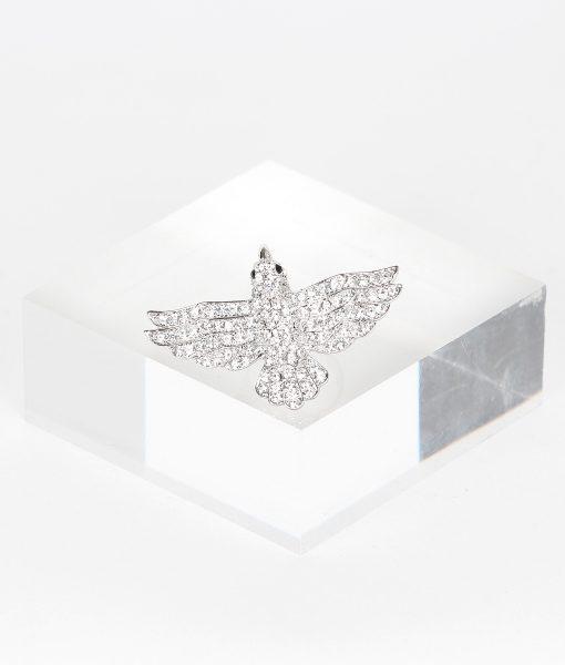 Alila Boutique Clear Crystal Bird Ring
