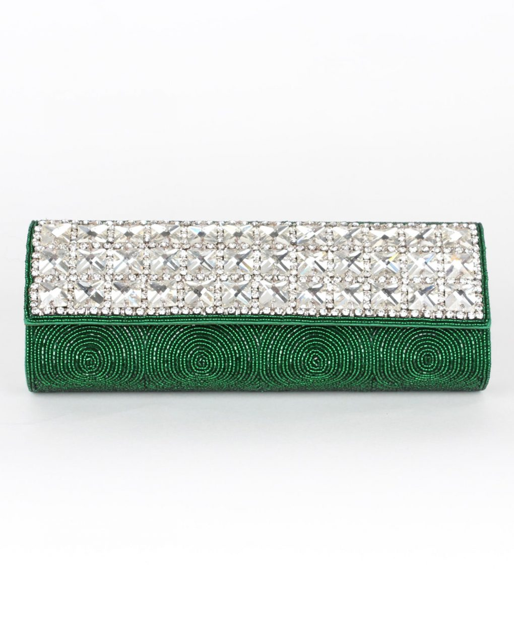 Alila Green Crystal Clutch Bag