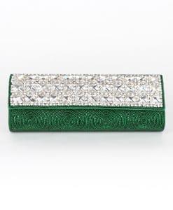 green beaded clutch