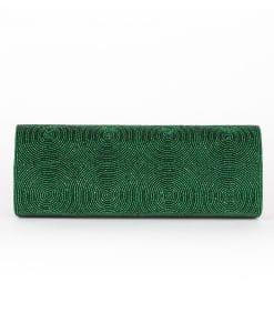 Green Crystal clutch back