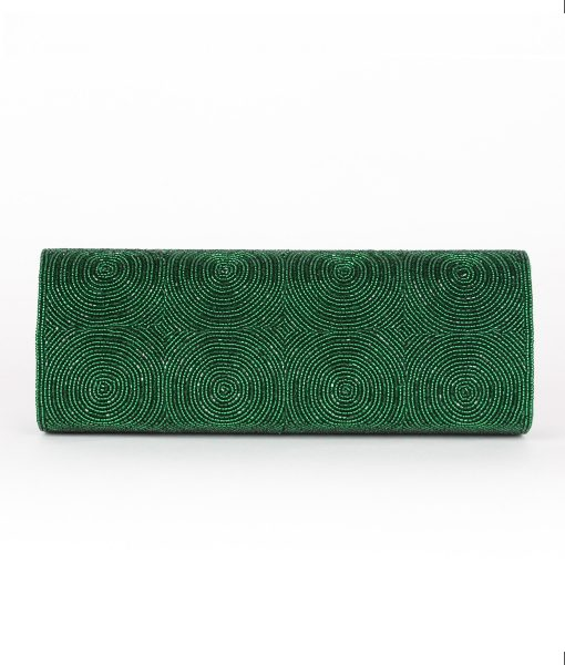 Alila Green Crystal Clutch Bag