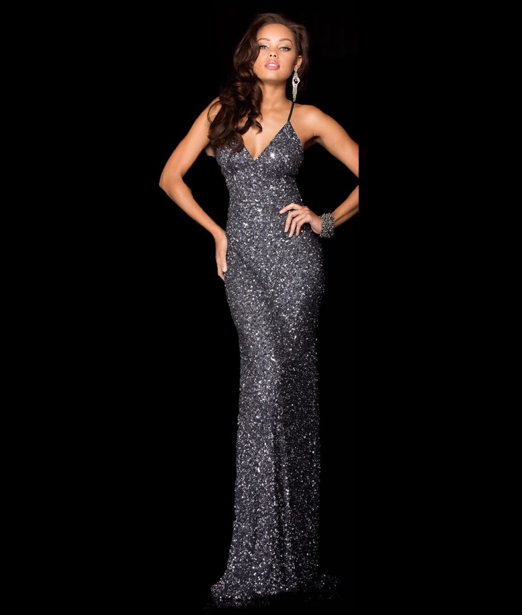 Alila Boutique Charcoal Sequin Gown by Scala