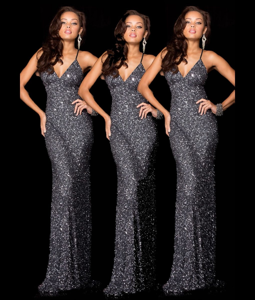 Alila Boutique Charcoal Sequin Gown by Scala.