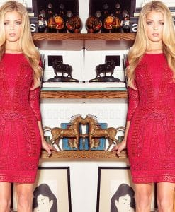 Scala Red Sequin Party Dress Cover
