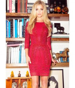 Alila Boutique Red Sequin Party Dress by Scala