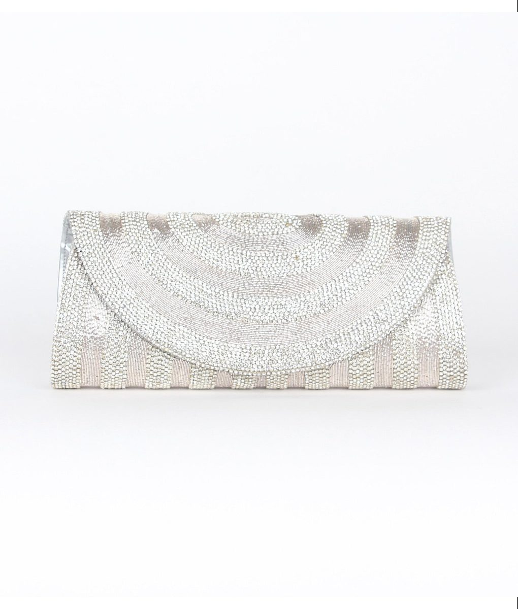 Alila Silver Crystal Clutch Bag