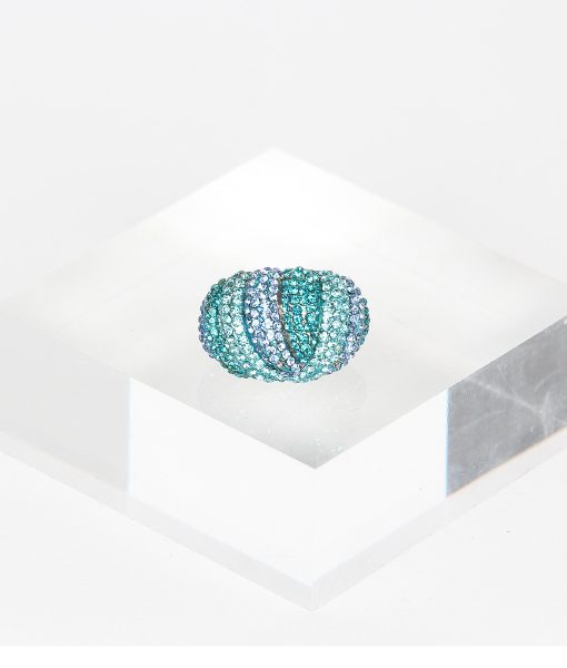 Alila Boutique Blue Tone Crystal Ring