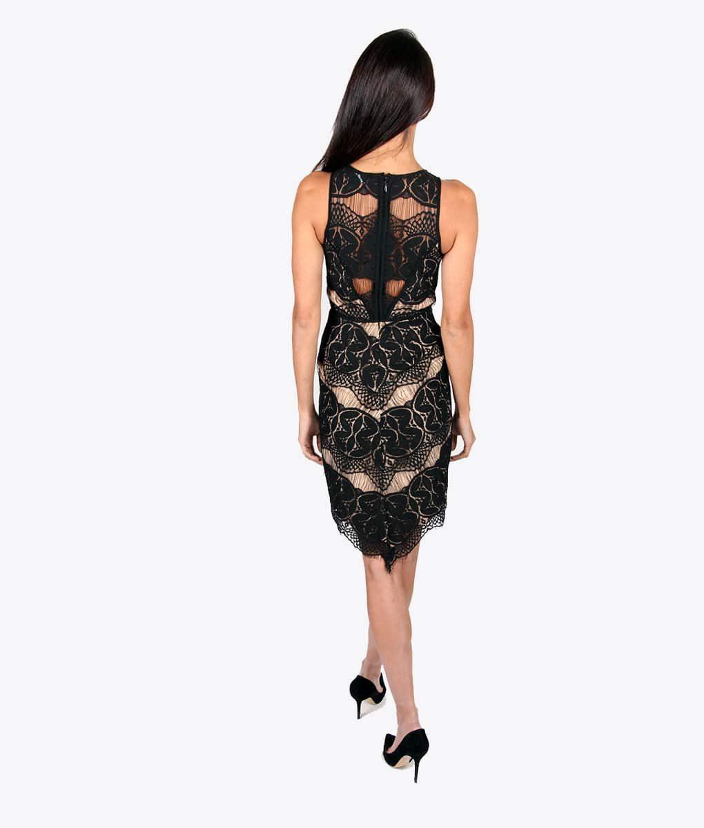 Alila Boutique Black Lace Dress.