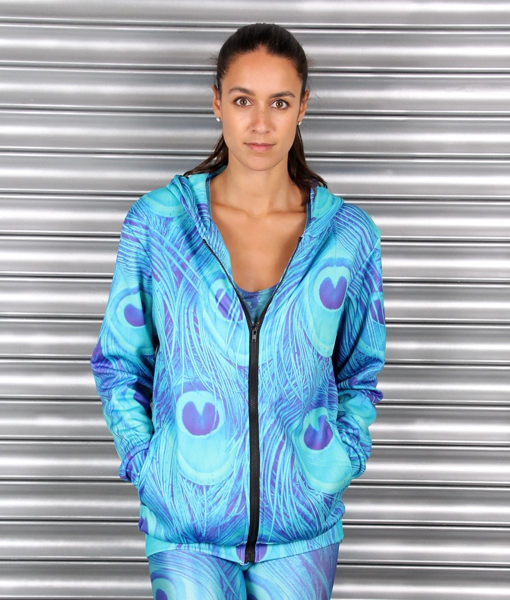 Alila Active Peacock Print Hoodie by Mr Gugu