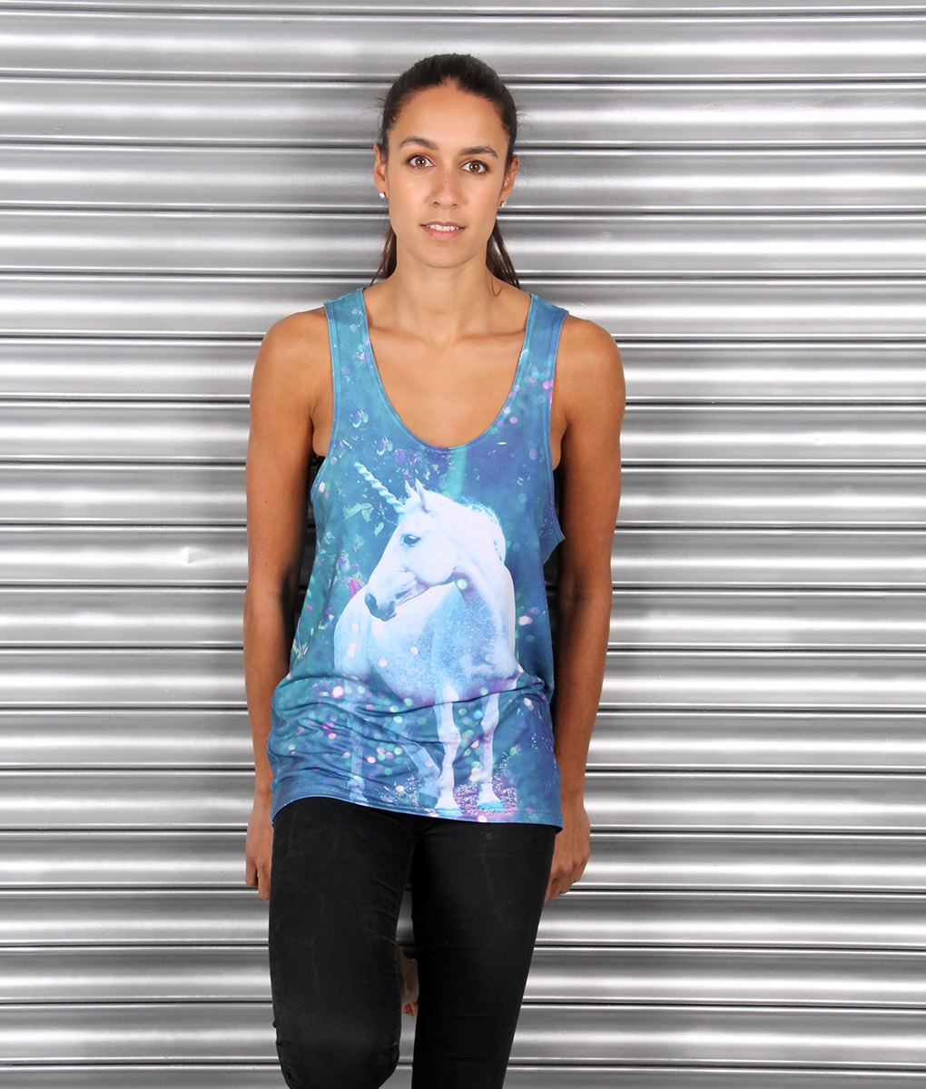 Alila Active Blue Unicorn Tank Top