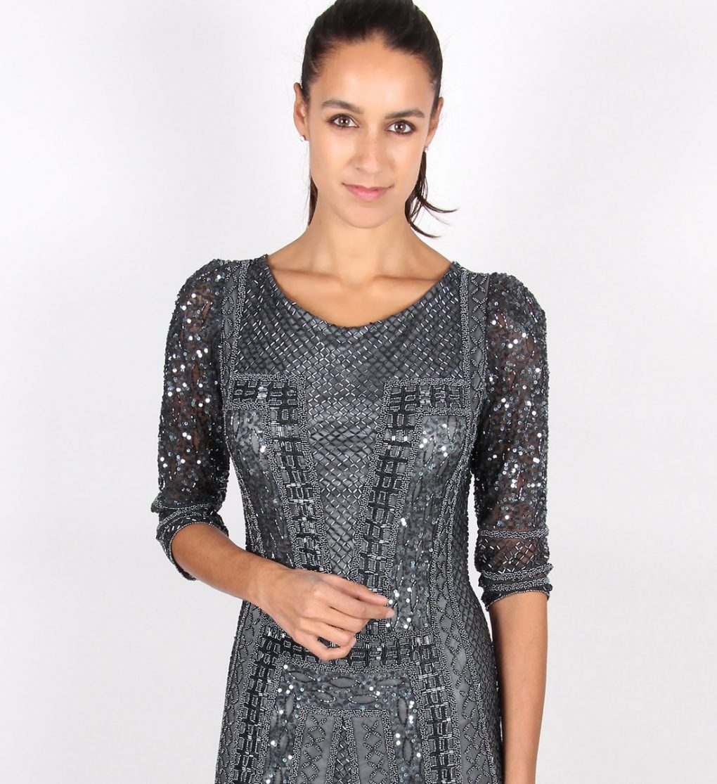Alila Charcoal Long Sleeve Sequin Dress by Scala