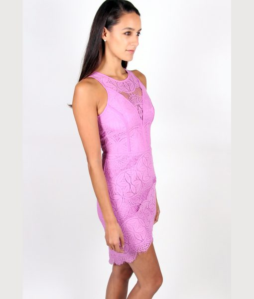 Alila Lilac Fitted Lace Dress By Adelyn Rae