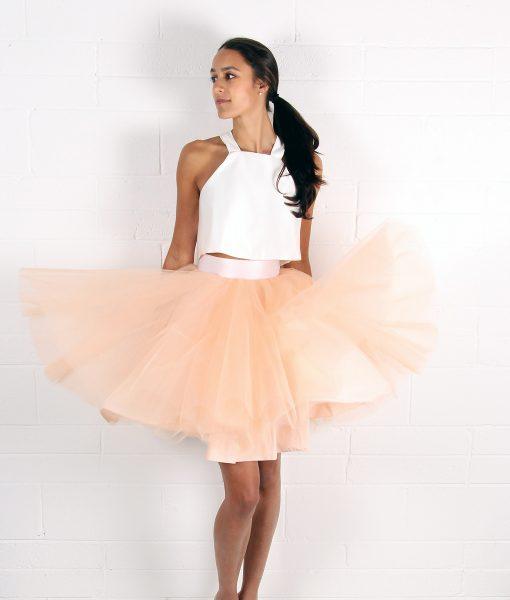 Alila Peach Tulle Tutu Skirt by Jones & Jones