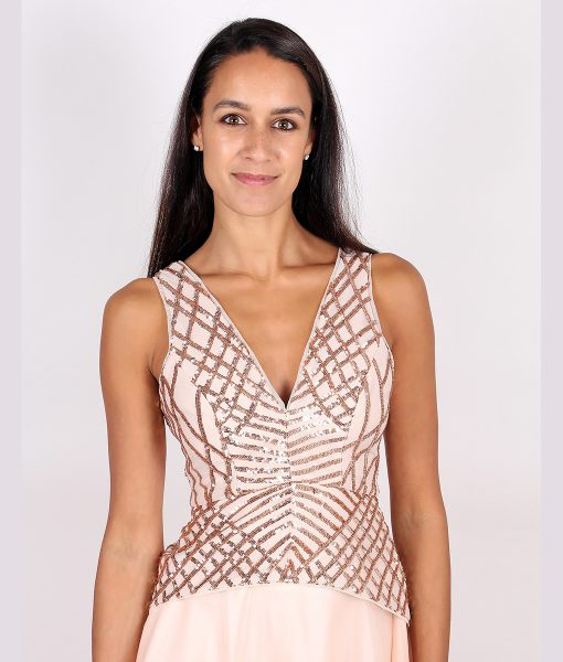Alila Rose Gold Sequin Top by Lumier by Bariano