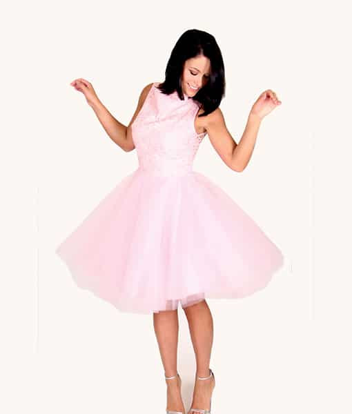 Alila Boutique Pink Tutu lace dress By Jones & Jones.