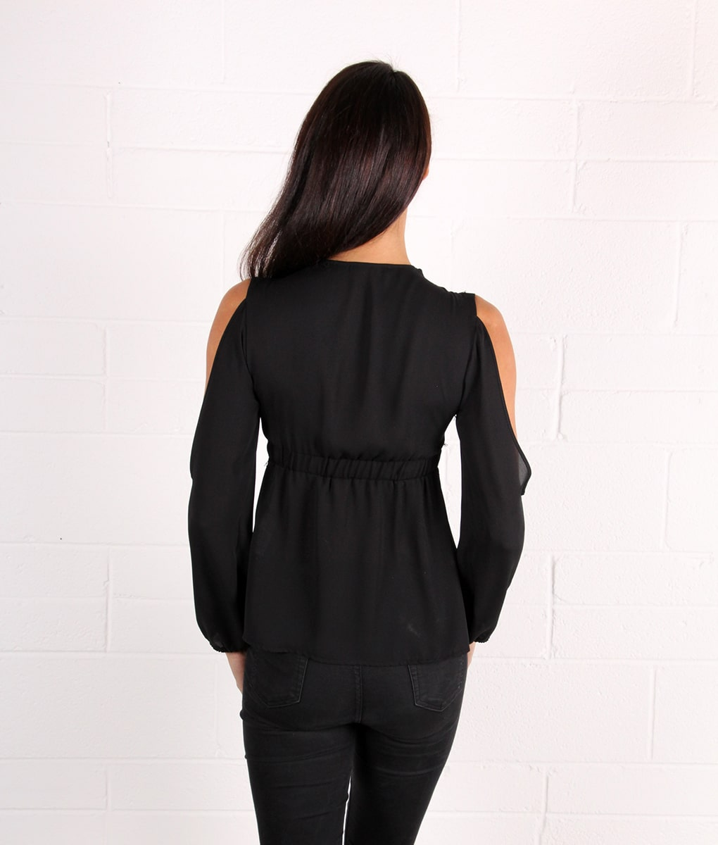 Alila-Black-Sheer-Cold-Shoulder-Lace-long-sleeve-going-out-top-by-Explosion-London-back