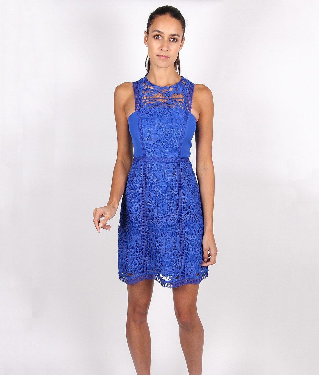 Lumier By Bariano Cobalt Lace Dress - Alila