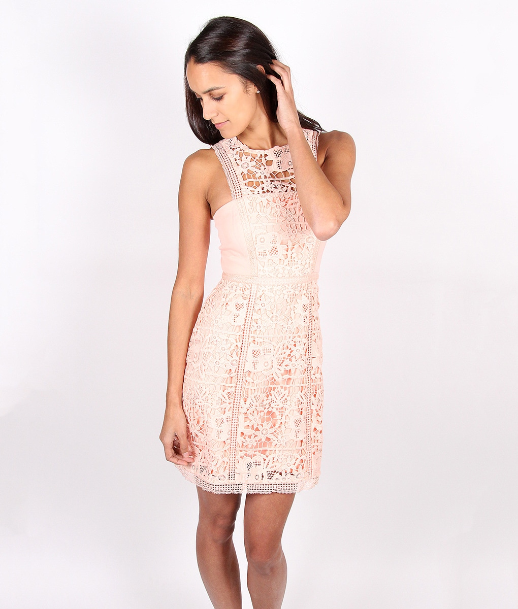 Alila-Pale-Peach-Lace-Dress-for-wedding-by-Lumier-by-Bariano-back
