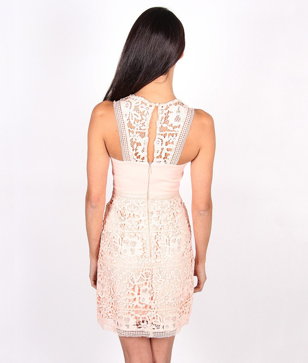 Alila-Pale-Peach-Lace-Dress-for-wedding-by-Lumier-by-Bariano-1