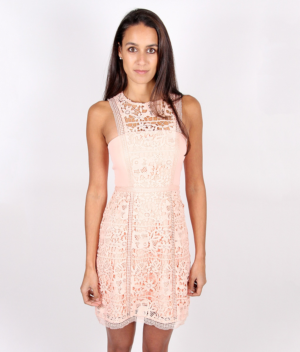 Alila-Peach-Lace-Dress-for-wedding-by-Lumier-by-Bariano