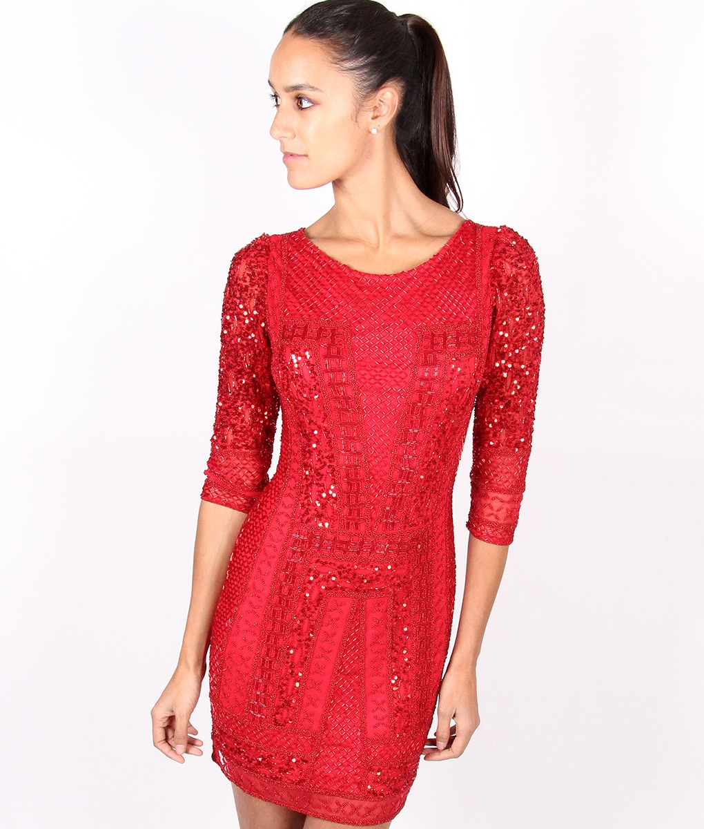 Alila-Red-Long-sleeve-Sequin-dress-by-Scala