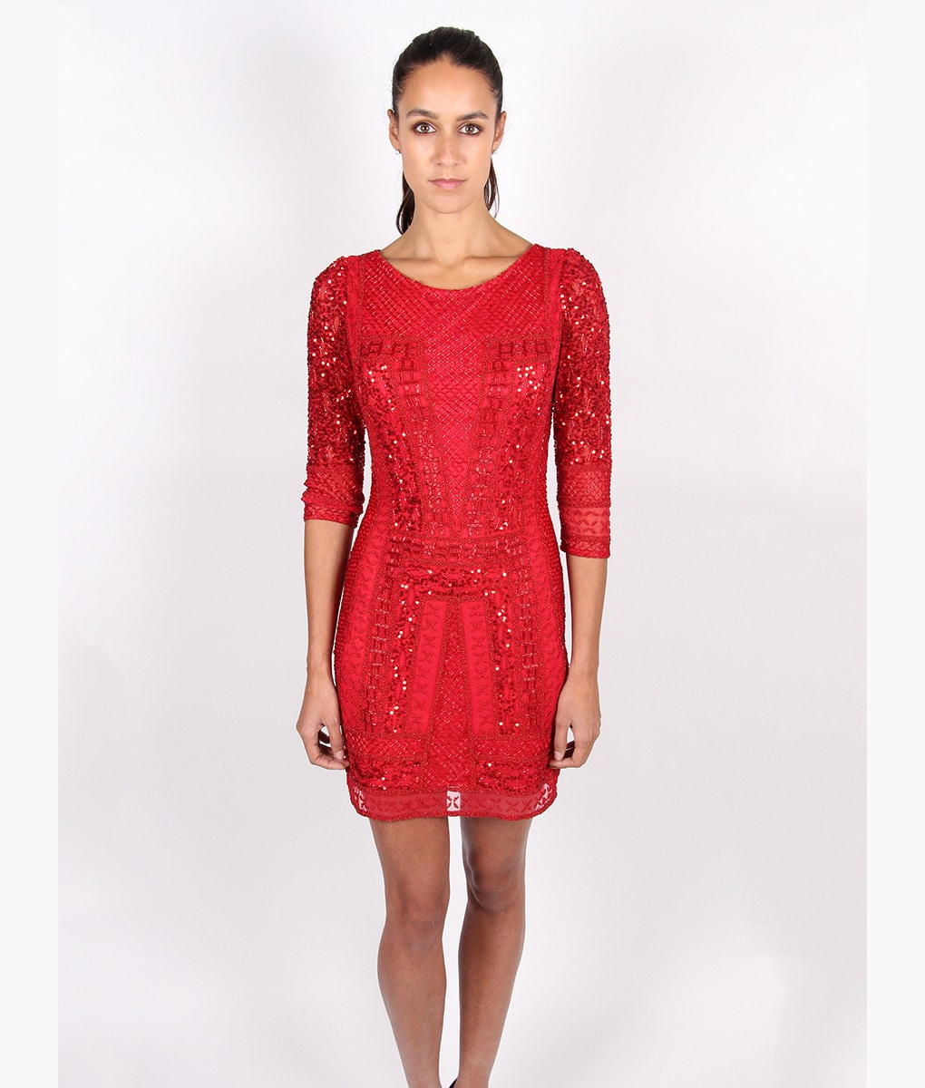 Alila-Red-Long-sleeve-Sequin-mini-dress-by-Scala