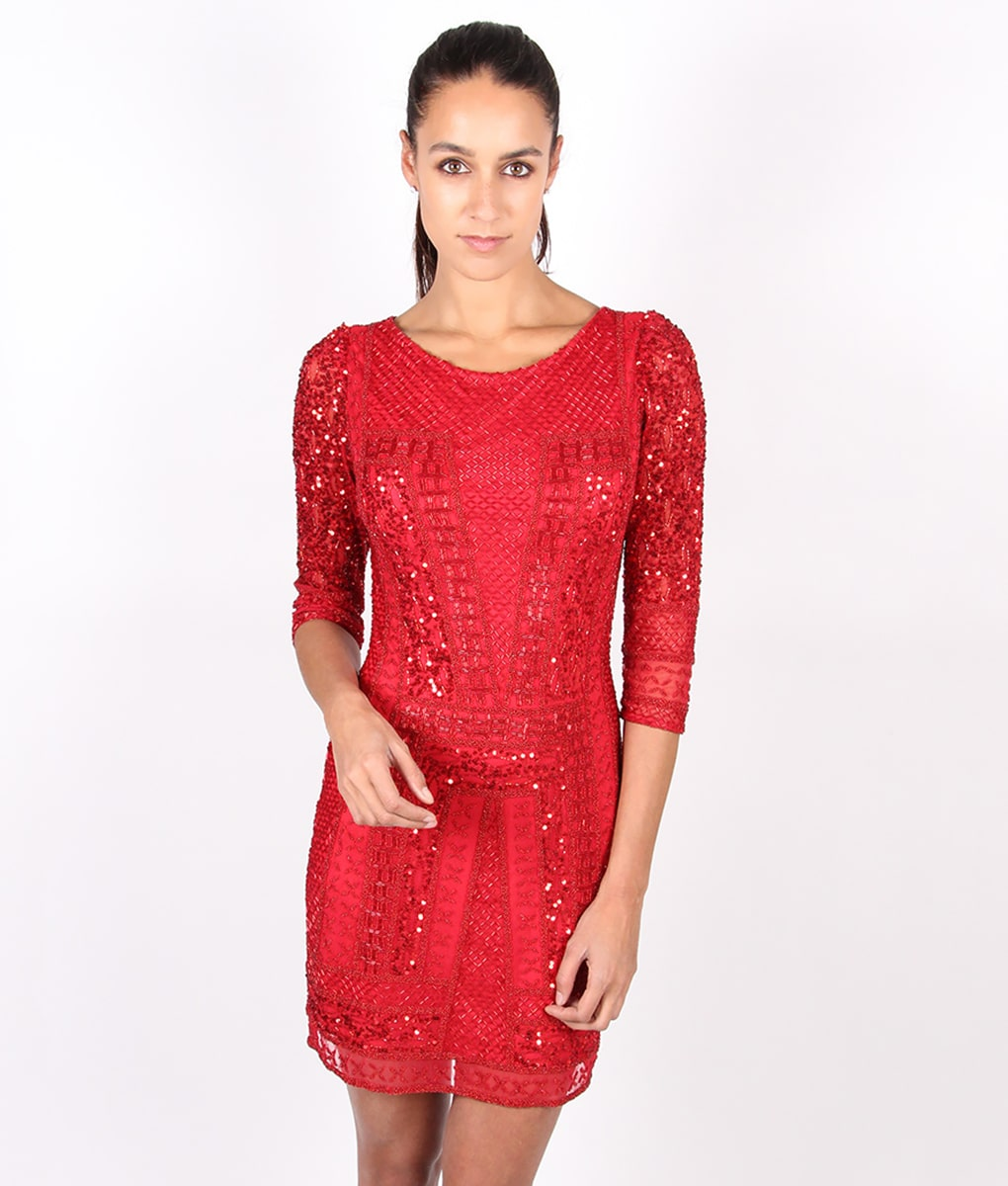 Alila-Red-Long-sleeve-Sequin-occasion-dress-by-Scala