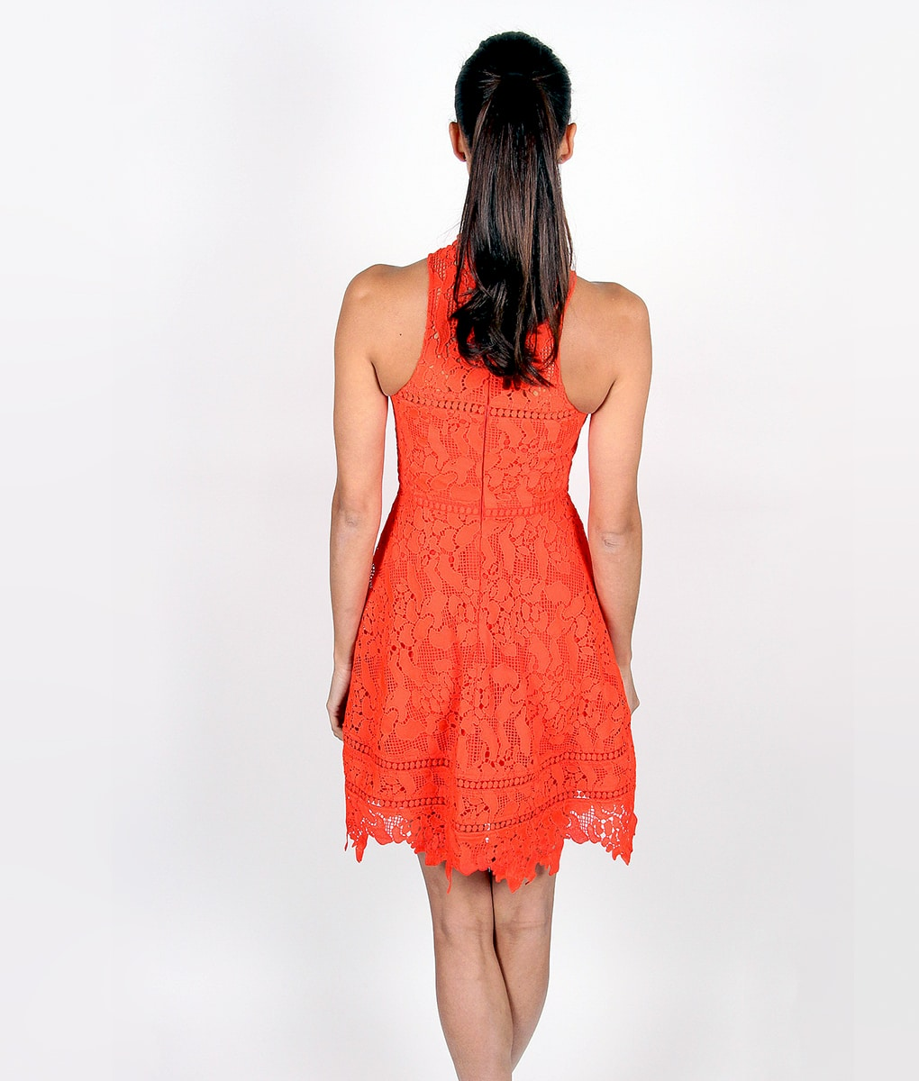 Alila-Tomatoe-Red-Lace-Crochet-Dress-by-Lumier-by-Bariano-back