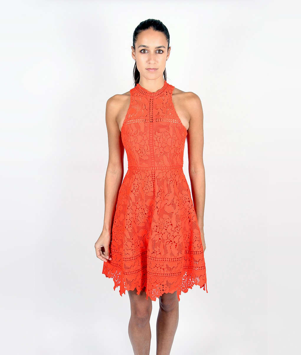 Alila-Tomatoe-Red-Lace-Crochet-Dress-by-Lumier-by-Bariano-front