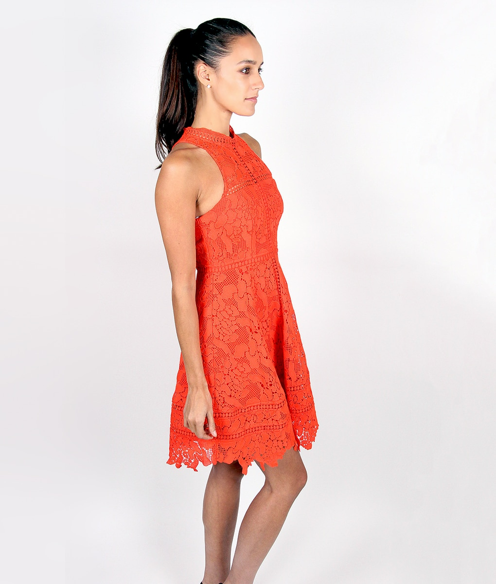 Alila-Tomatoe-Red-Lace-Crochet-Dress-by-Lumier-by-Bariano-side
