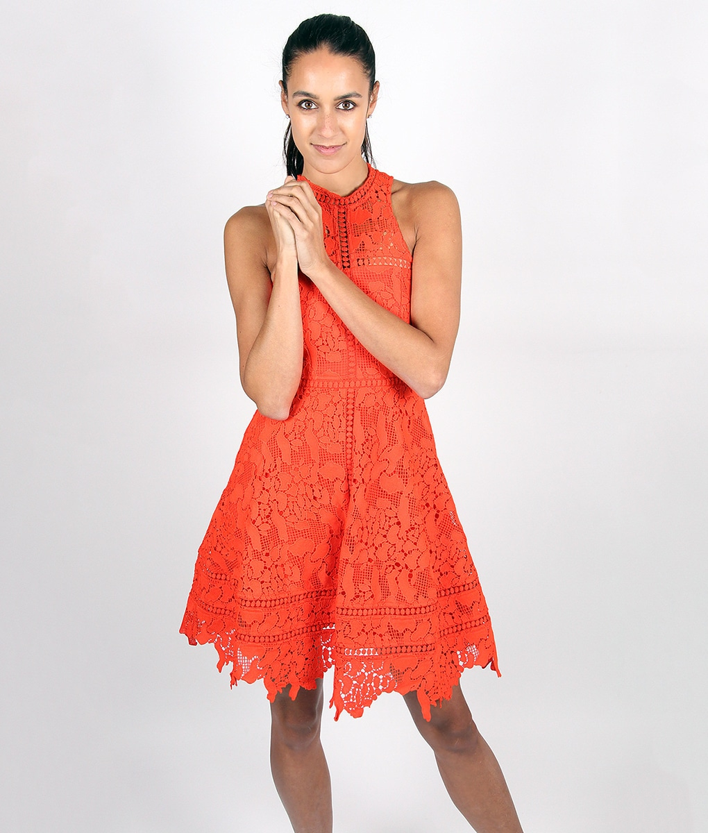 Alila-Tomatoe-Red-Lace-Crochet-Dress-by-Lumier-by-Bariano