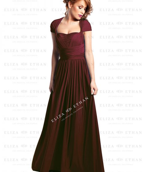 Alila-Burgudy-Multwrap-Dress-Eliza-and-Ethan