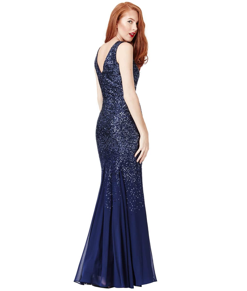 ALILA-Navy-Sequin-v-neck-chiffon-end-bridesmaid-dress