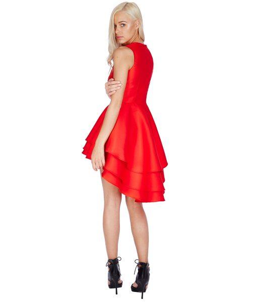 City Goddess - Red Ruffle Mini Dress