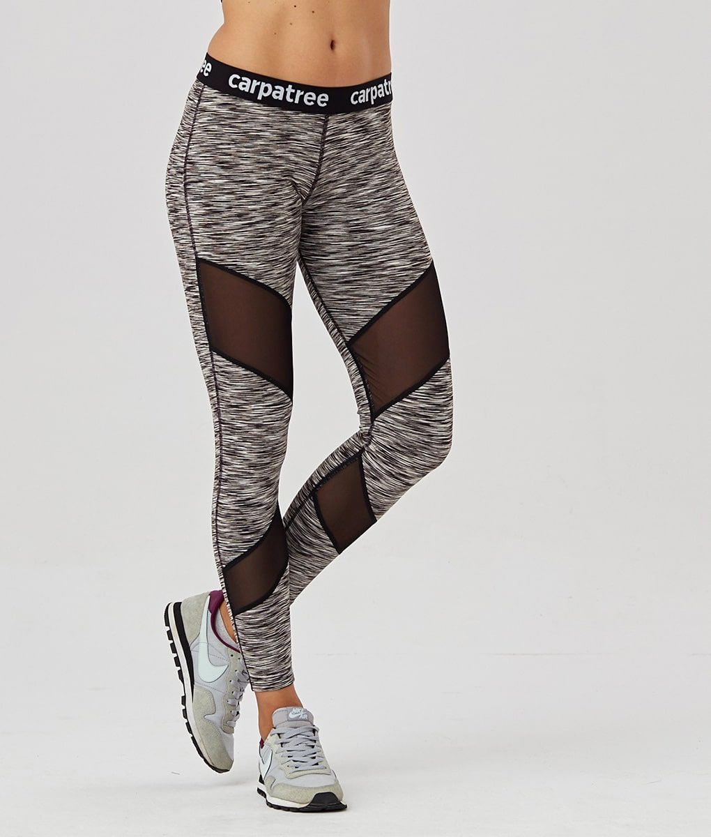 Alila Active Grey Double Mesh workout leggings
