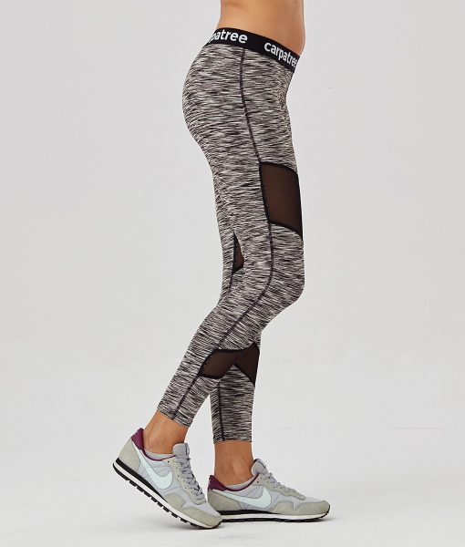 Alila Active Grey Double Mesh workout leggings