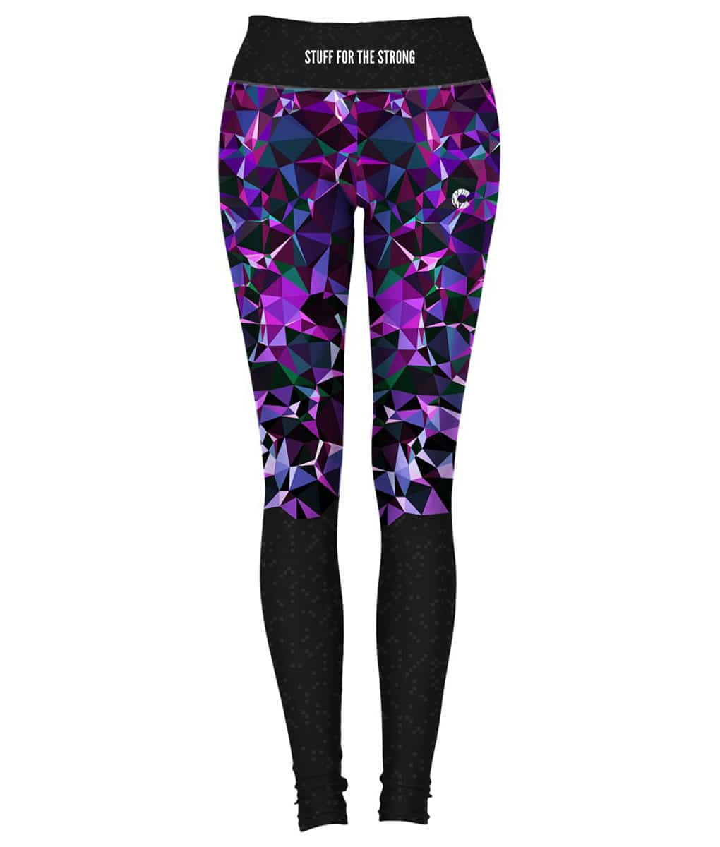 Alila Active Purple Two Tone workout leggings