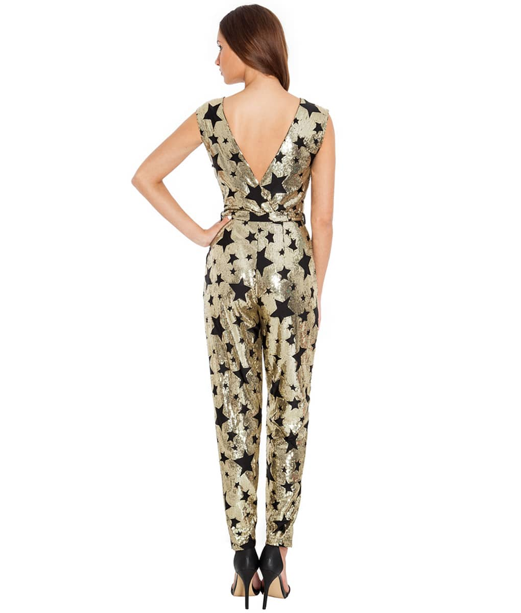 Alila-Gold-sequin-star-jumpsuit-city-goddess