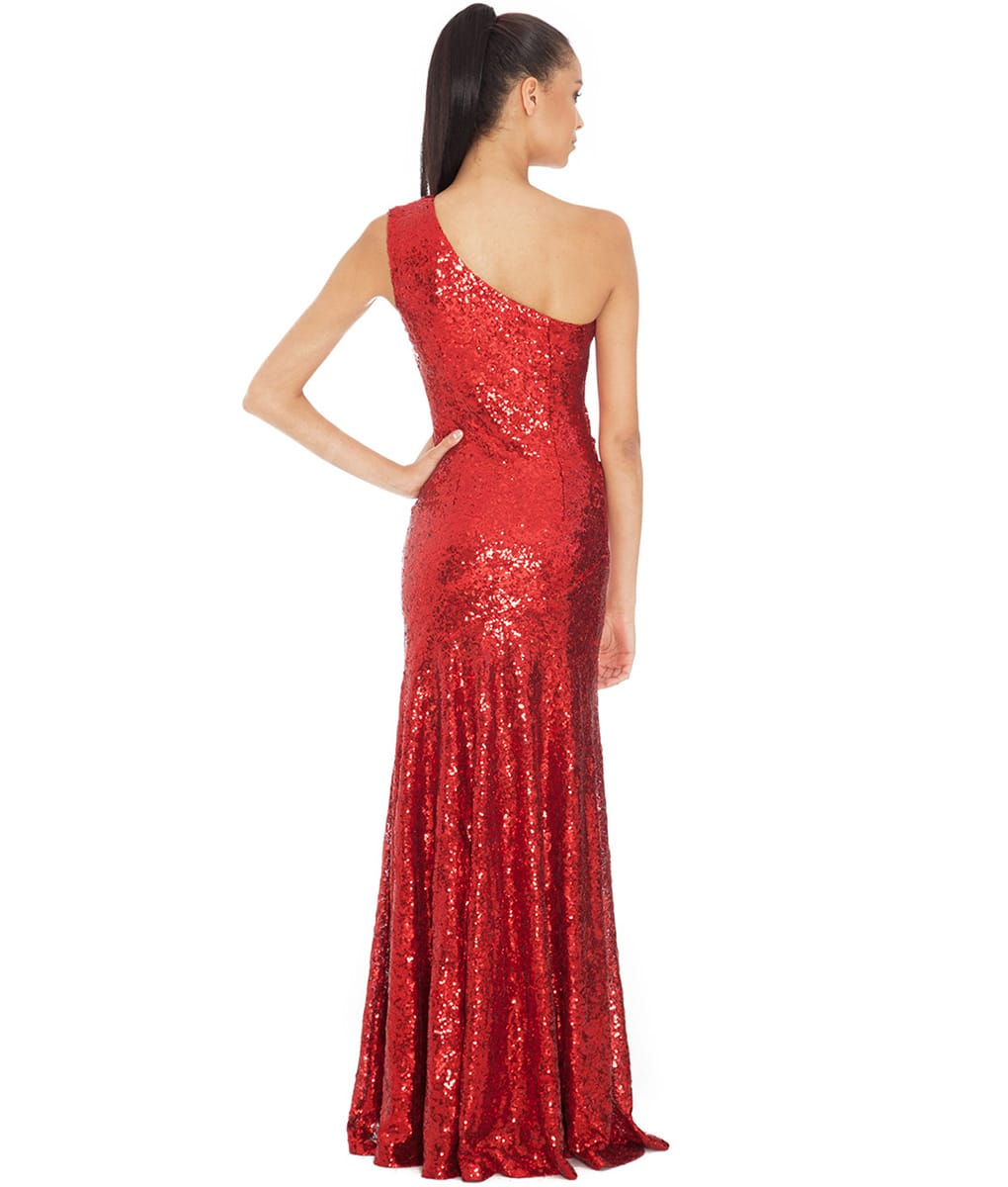Alila-One-shoulder-red-sequin-gown-back-city-goddess