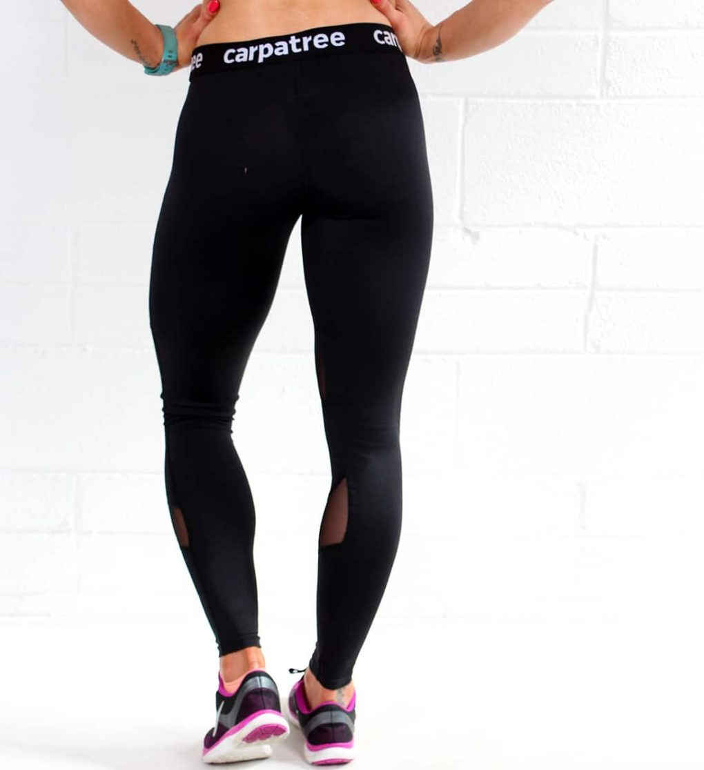 Alila Active Black Workout Leggings with Double Mesh Detail