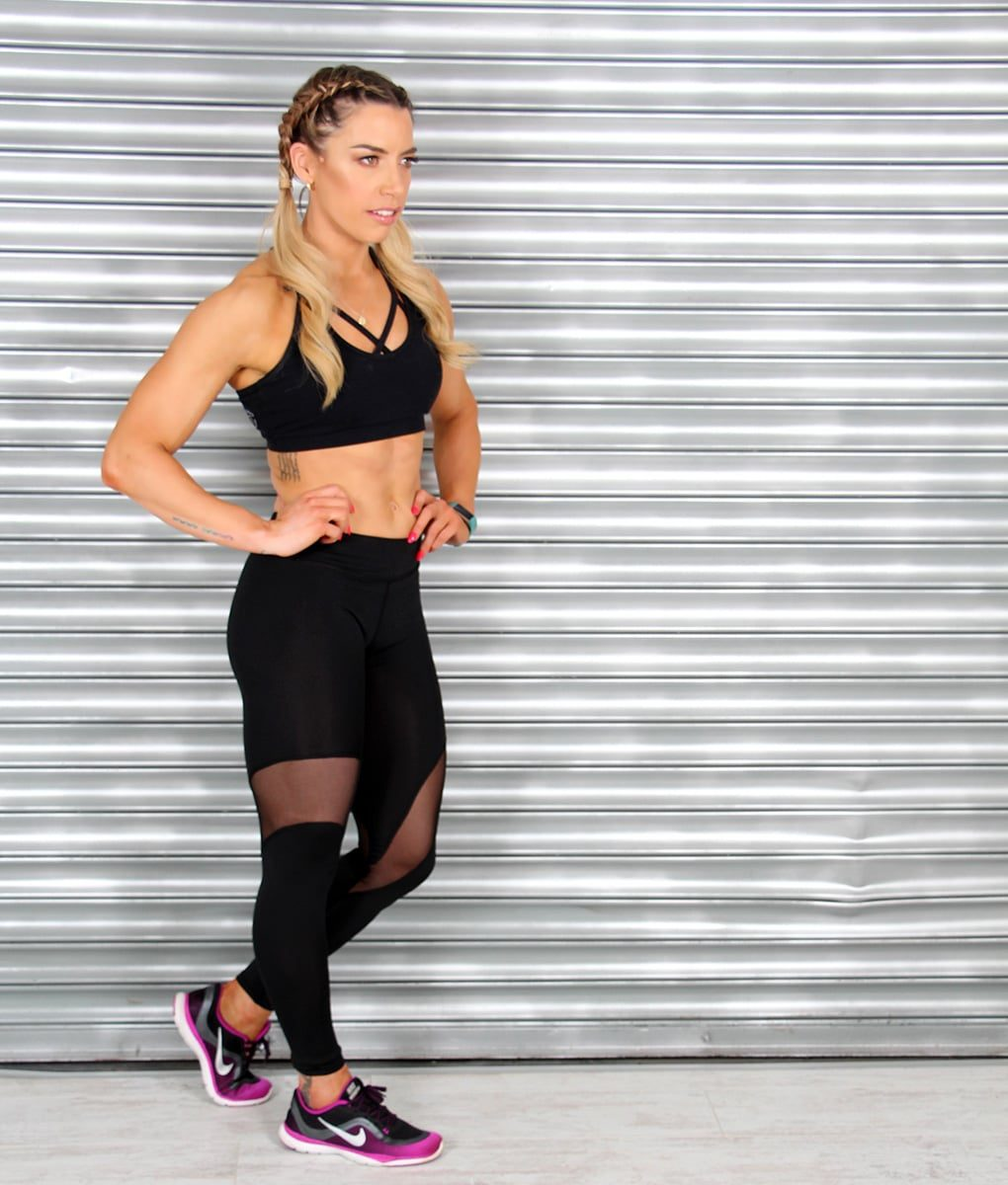Alila Active Single Mesh Workout Leggings