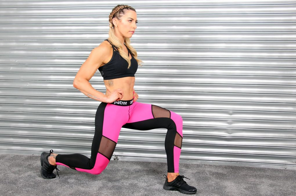 Alila Active Hot Pink Workout Leggings with Double Mesh Detail