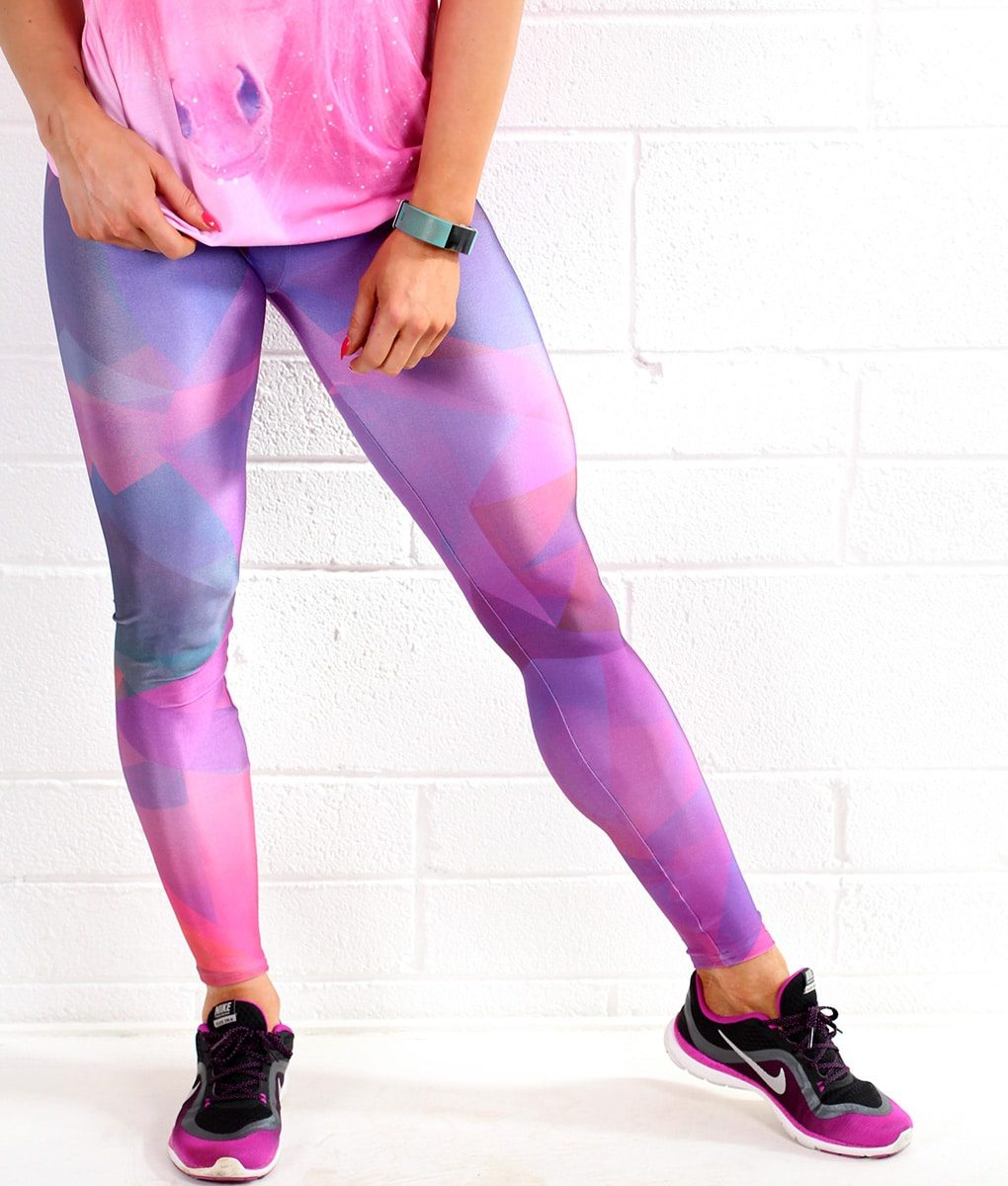 Alila Active Purple Workout Leggings Pink Top