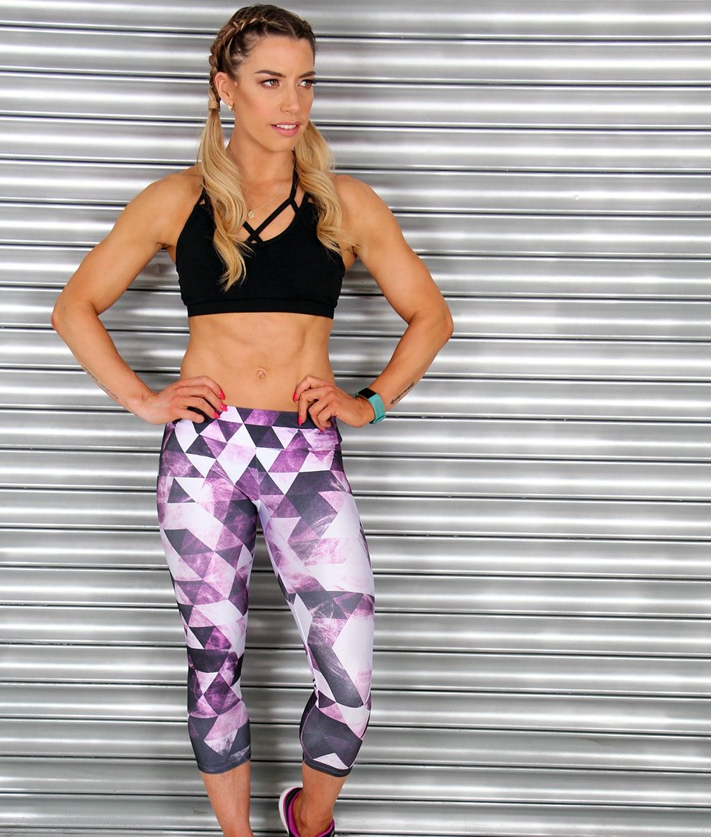 Alila Active Multi Purple Crop Leggings