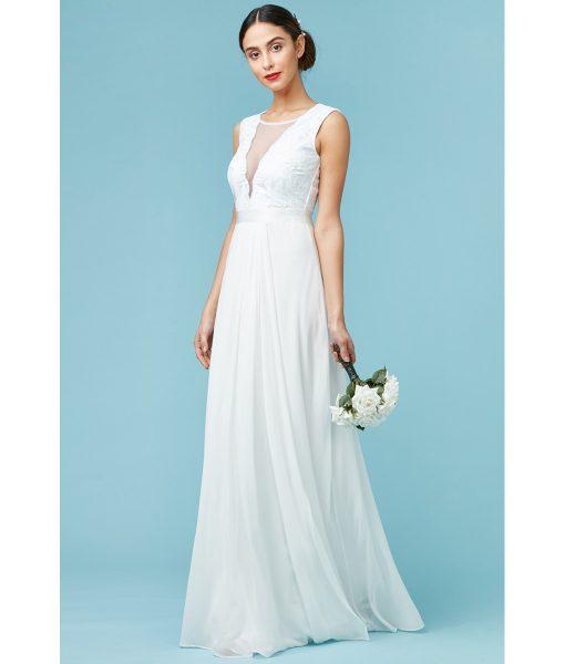 Alila Bridal Chiffon Plunging Gown