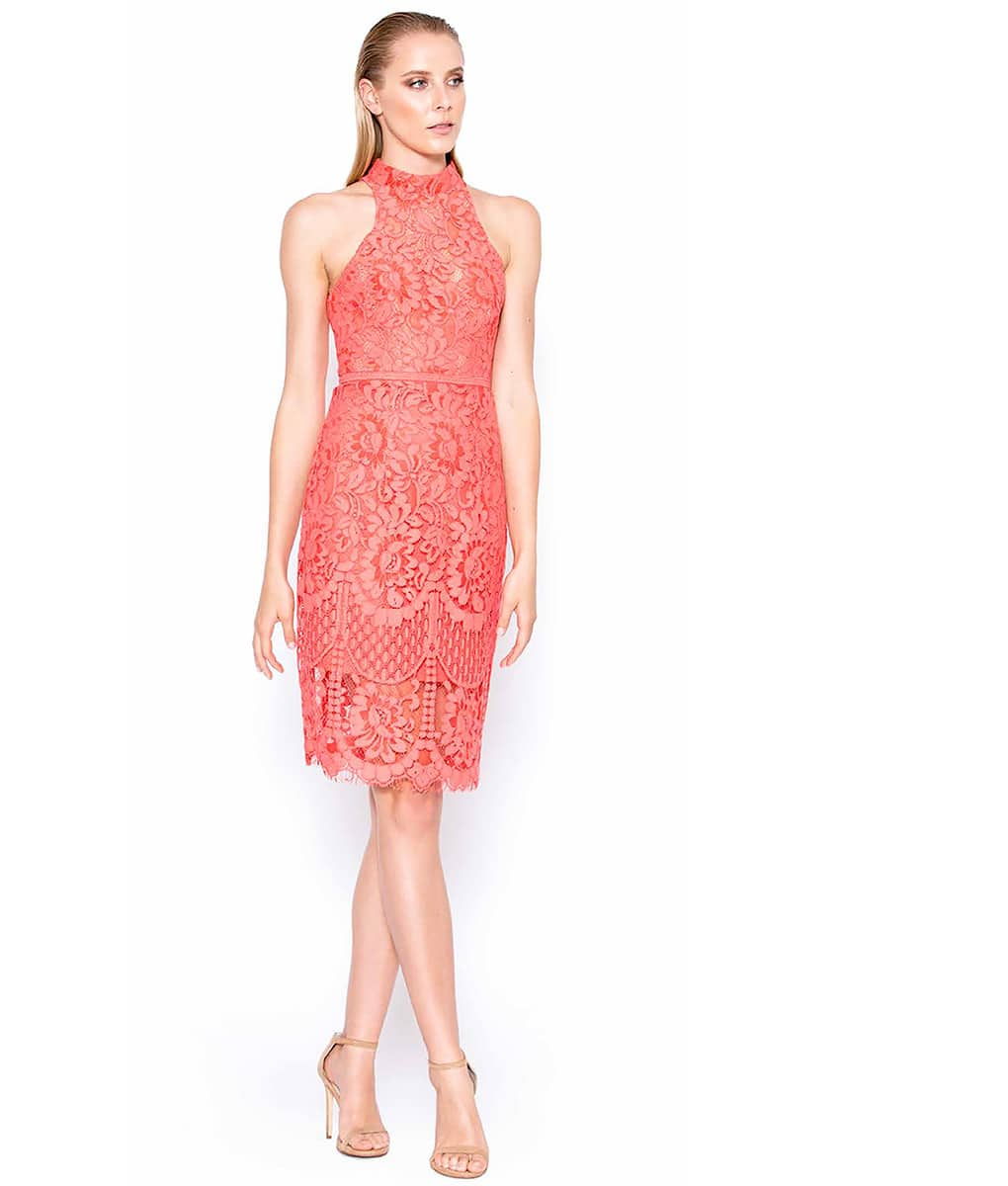 Alila-Coral-Lace-High-Neck-midi-dress-FOR-WEDDING-Lumier-Bariano