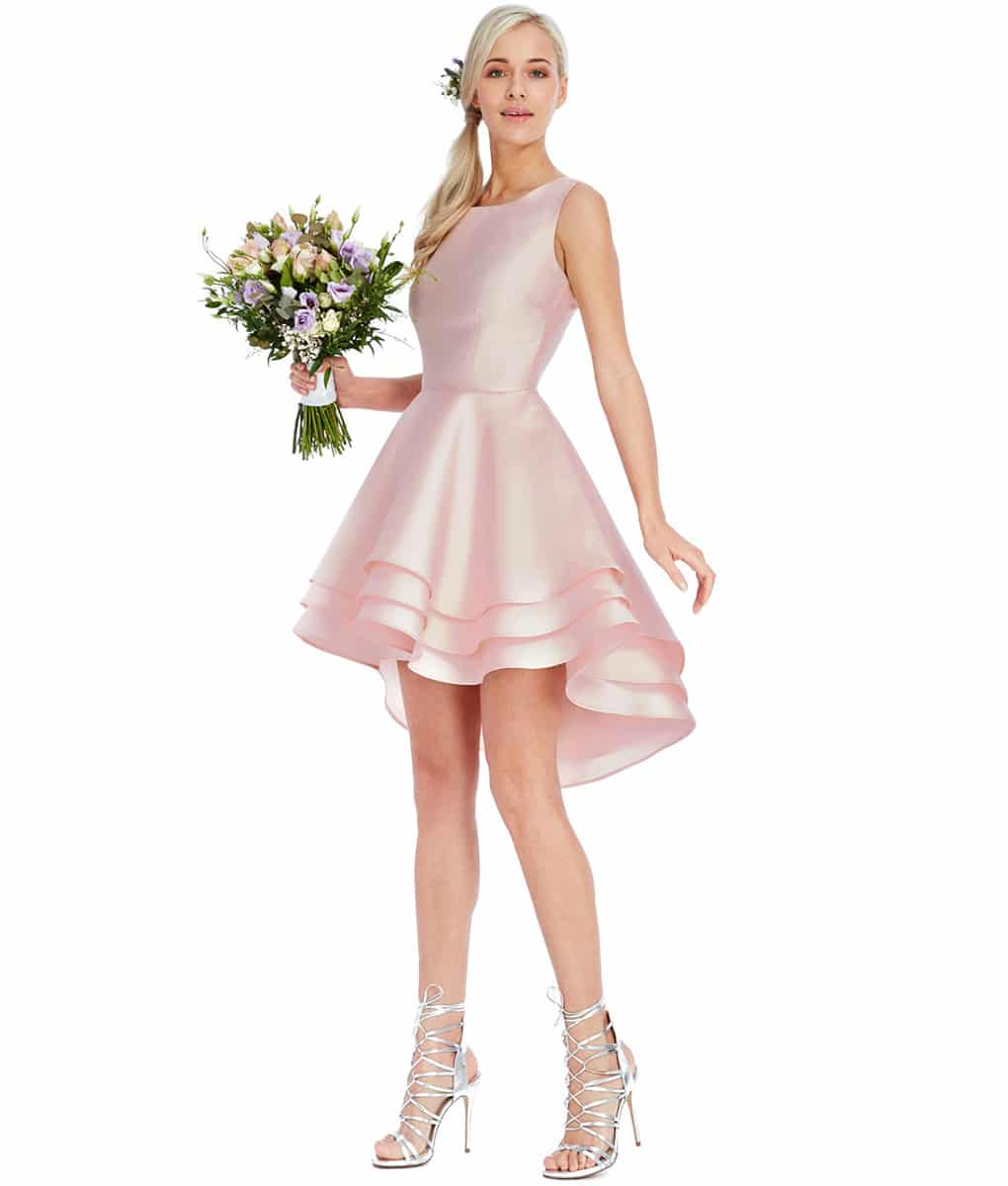 Alila Boutique Pale Pink ruffle mini dress