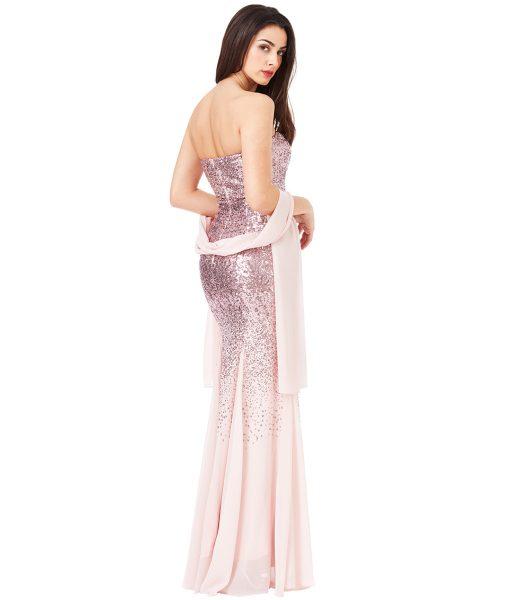 Alila-Strapless-Rose-Sequin-debs-dress-city-goddess